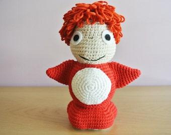 Crochet Ponyo Amigurumi - Handmade Crochet Amigurumi Toy Doll - Studio Ghibli - Ponyo Crochet - Amigurumi Ponyo