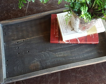 Rustic wood serving Tray, Rustic Home Decor, Farmhouse Decor, Ottoman Tray, Wood Tray, Table Tray, Kitchen tray, Farmhouse Tray, Wedding