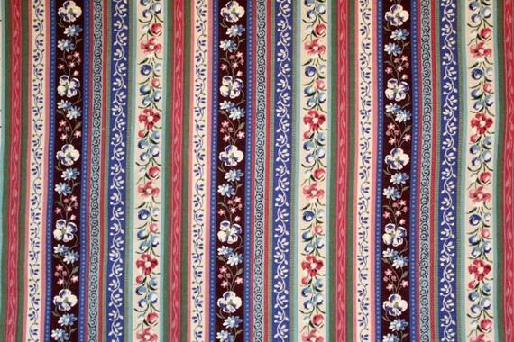Floral Print Stripe Quilt Fabric, 100% Cotton Quilt Fabric, Fabric ... : stripe quilt fabric - Adamdwight.com