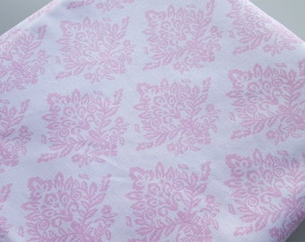 Pink Flower Fabric Vintage Syle Floral Fabric 100% Cotton Pink Nursery Cotton
