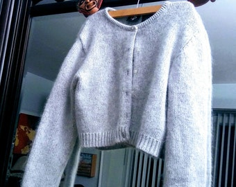 No Boundaries-Heather Gray Cropped Sweater
