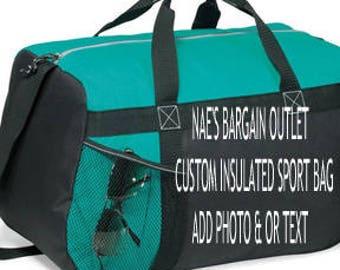 Custom Sports Bag, Duffel Bag, Personalized Gym Bag, Bird, Smurf, Business Logo, Red Eye Tote Bag, Patterns Choice