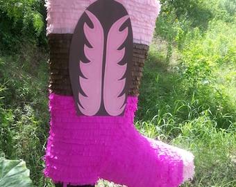 Cowgirl boot piñata, Cowboy boot pinata