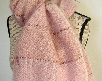 Woven goat mohair scarf