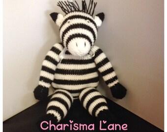 Hand Knitted Cuddly Zebra