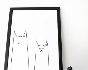 Cats poster (ecological, organic)