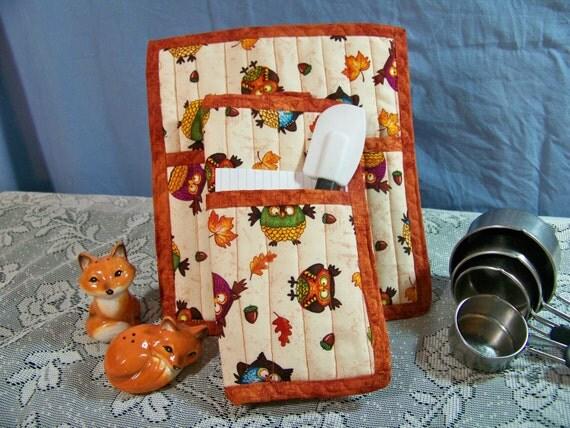 Whoooo Loves You! Crazy Fall Owl Pot holder set