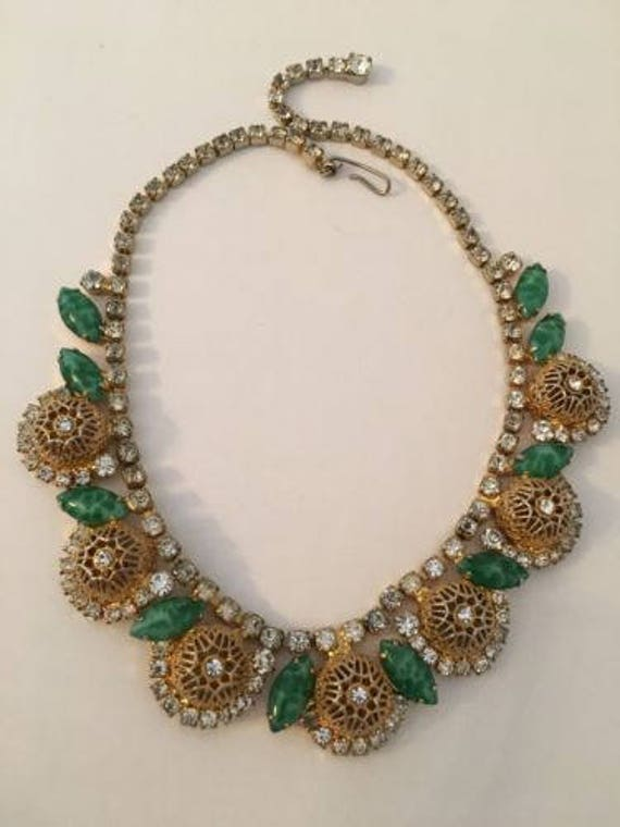 Amazing Hattie Carnegie Glass Bead Necklace