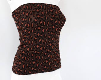 SALE* Vintage leopard print tube top from 1990s
