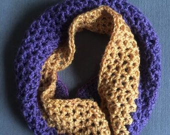 Children's Infinity Scarf. Crochet Cowl. Toddler Scarves. Ombré Infinity Scarf.