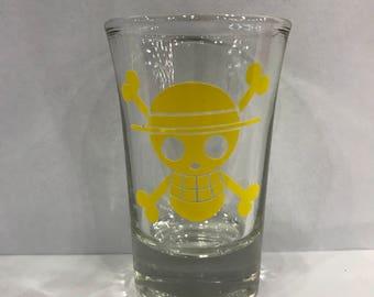 One Piece Straw Hat Jolly Roger Shot Glass