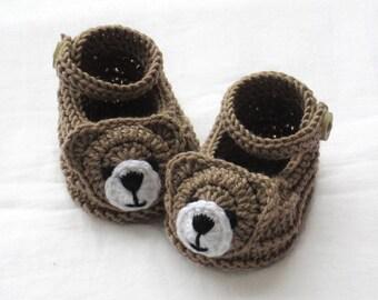 Knitted bear shoes,Knitted baby shoes,Knitted baby booties,Knitted animal shoes,Knitted fun shoes