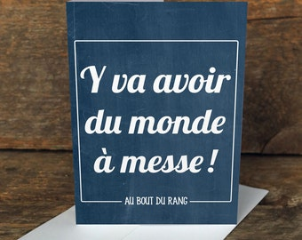Greeting cards – Du monde à la messe