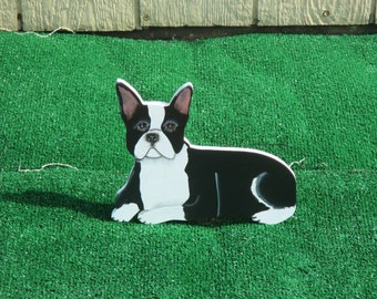Boston Bull Terrier Yard Sign