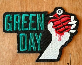 Green Day Embroidered Iron -On Patch 4'' X 3''