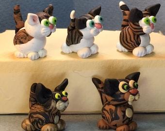 Brown Tabby Kittens miniatures