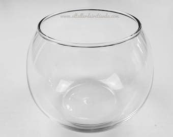 Candle holder glass fishbowl