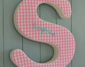 Personalised Large Fabric Wall Letters 45cm