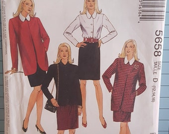 McCalls 5658 Misses Jacket, Blouse and Skirt Size 12-16