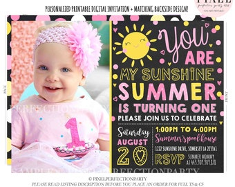 Sunshine Birthday Invitation Sunshine Invitation Our Little Sunshine Invite You Are My Sunshine Party Girls Sunshine Party Light Pink Yellow