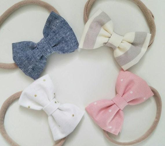 Newborn Nylon Headbands Newborn Hair Bows Fabric Bows