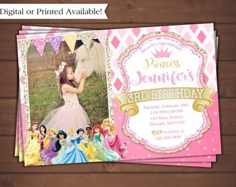 Princess Invitation, Disney Princess Invitation
