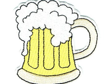 Beer Iron On Patch Embroidered Applique