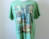 Bob Marley T/Discontinued Design/Faded Green/Broken In/Well Loved/Grunge/Festival Wear/Fits Close to: M/L-L