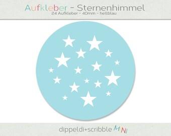 Sticker baby Star Blue