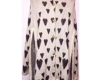 Vintage Heart Cape With Gold Buttons