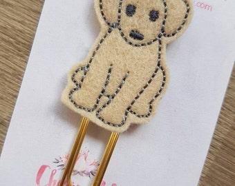 Golden Labrador Retriever  Dog Paper Clip