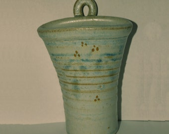 Studio Pottery Wall Pocket / Vase - SOLVA POTTERY WALES