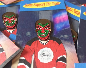 David Puddy devils enamel pin Seinfeld