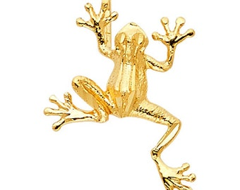 Frog 14k Yellow Gold Pendant - Frog 14k Gold Pendant