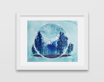 Watercolor Landscape print