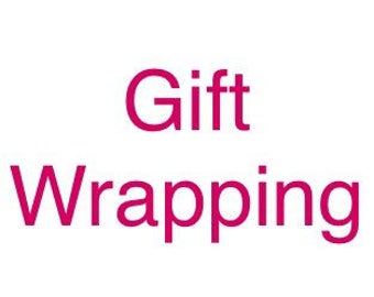 Gift Wrapping a personalised tag- add on