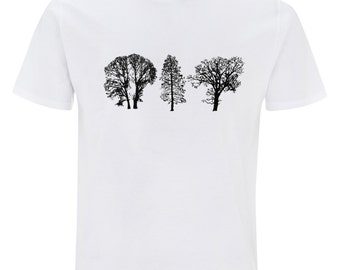 Trees - mens white t-shirt EarthPositive