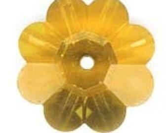 Swarovski Topaz AB Margaritas Art. 3700 10mm Pkg of 2. b11-cr-0463-1(e)