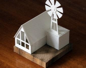 Mill - paper model