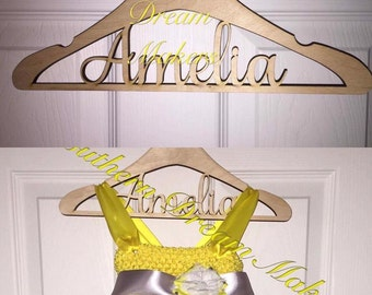 Personalized hanger, Personalized Wedding Dress Hanger, Flower Girl Hanger, Tutu Hanger, Bridesmaid Gifts, Wedding Accessories
