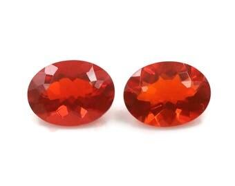 Fire Opals Pair 8x6mm OV Loose Stones