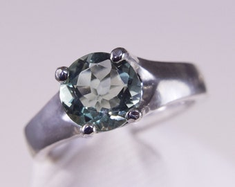 Green Flourite Set in Sterling Silver Ring