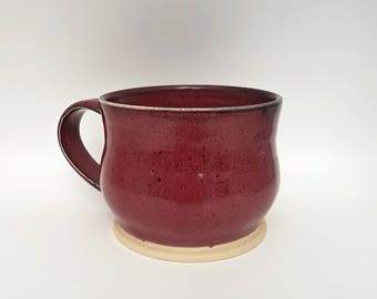 Deep Pink with Black Speckles - Stoneware Mug - Wheel Thrown Ceramic Mug - Pottery Mugs - Coffee Mugs - Handmade Mug - Teacup - Pottery Cup
