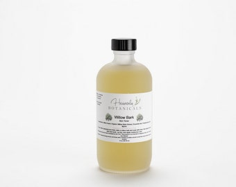 Organic Willow Bark Toner, 1 or 8 oz, Witch hazel toner, acne prone skin, salicylic acid toner, face toner, blemish prone skin