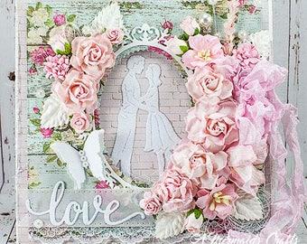 Shabby Chic Love Wedding Card