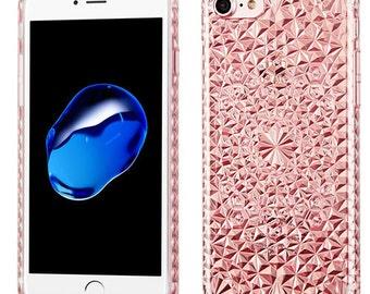 Diamond Rose iPhone 7 / 8 TPU Gel  Case