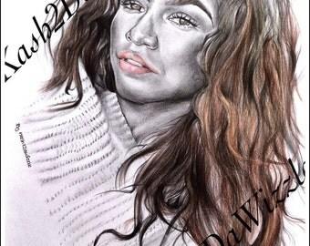 Zendaya #artwork Portrait
