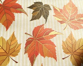 Gold embossed   Autumn leaves