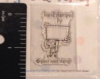 Hand stamped by stamp
