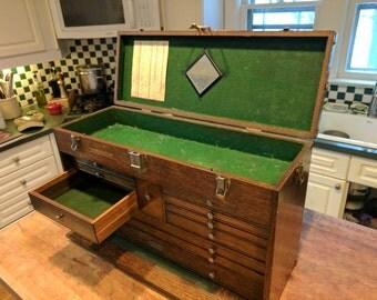 Gerstner Wooden Machinest Tool Chest. 11 drawer